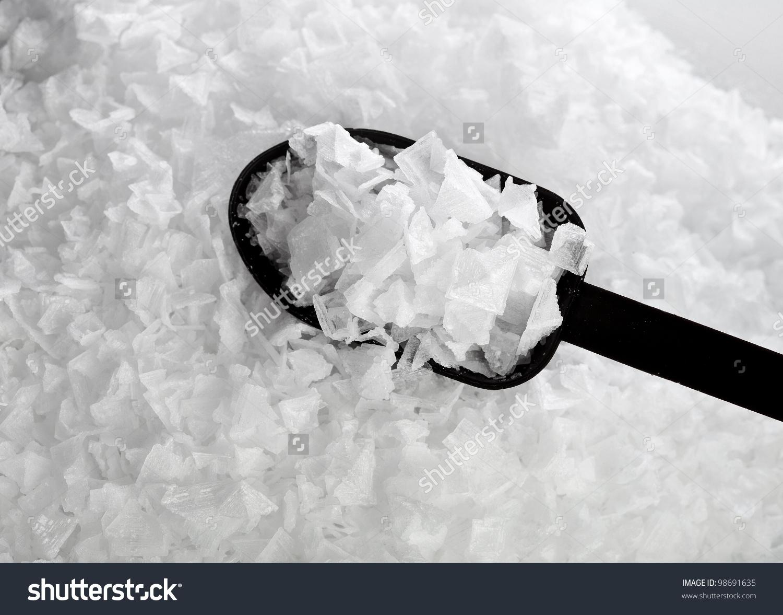 Sea Salt Crystals Flakes Textured Background Stock Photo 98691635.