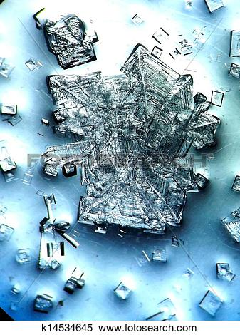 Stock Image of Complex NaCl and KCl salt crystal k14534645.