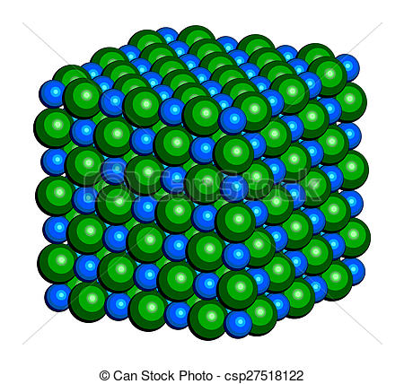 Clip Art of Sodium chloride (rock salt, halite, table salt.