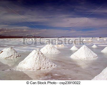 Stock Photo of Salt flat.
