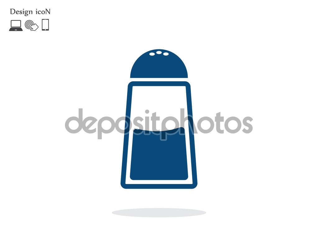 Salt flat design icon — Stock Vector © StudioIcon #104835928.