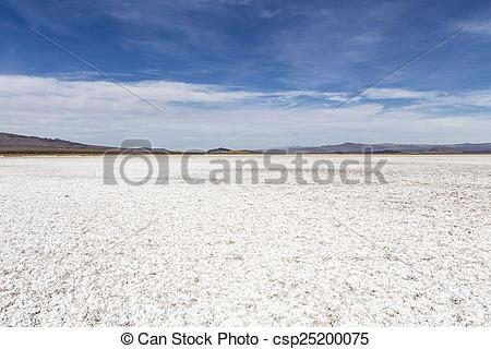 Picture of Mojave Desert Salt Flat Dry lake.