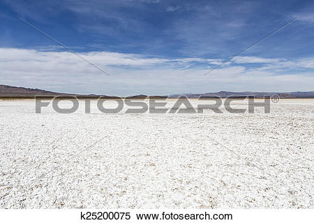 Stock Image of Mojave Desert Salt Flat Dry lake k25200075.