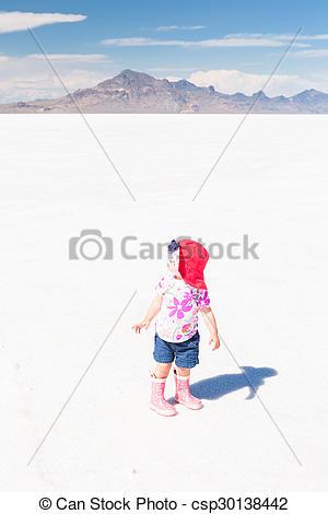Stock Photo of Bonneville Salt Flats.