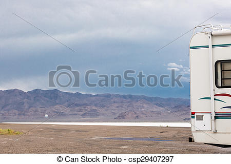 Stock Photographs of Bonneville Salt Flats.