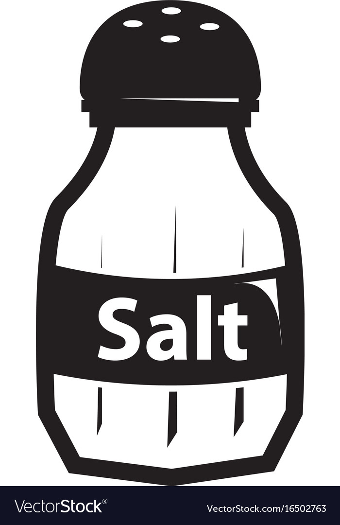 Black salt shaker icon.