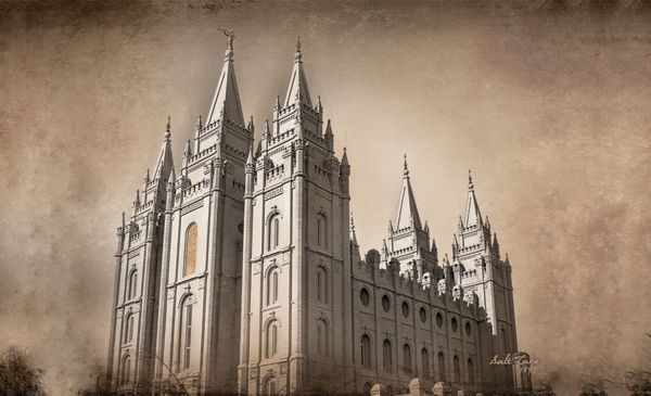 Salt Lake City Utah Temple Recommend Holder in Temple.