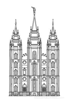 Free Salt Lake City Temple Silhouette, Download Free Clip.