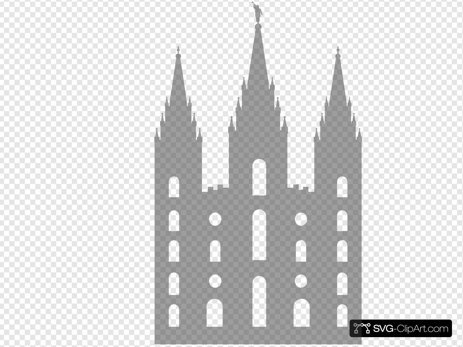 Salt Lake City Temple Clip art, Icon and SVG.
