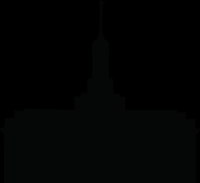 Temple Silhouette Clipart.