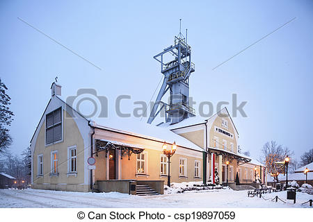 Stock Images of Salt mine entrance.