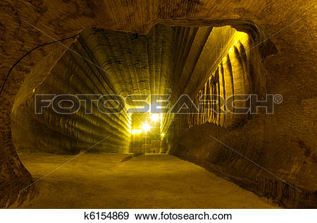 Stock Photograph of salt mine k6154869.