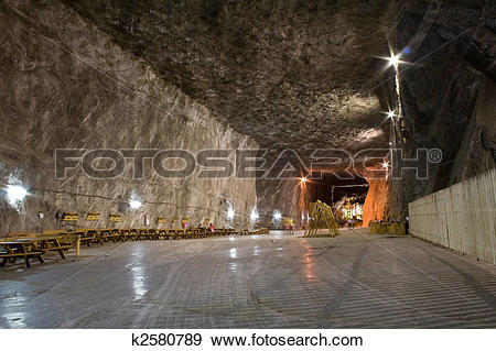 Stock Photograph of salt mine k2580789.