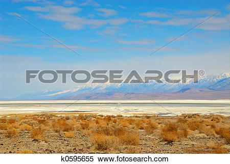 Stock Image of Death Valley Salt Pan k0595655.