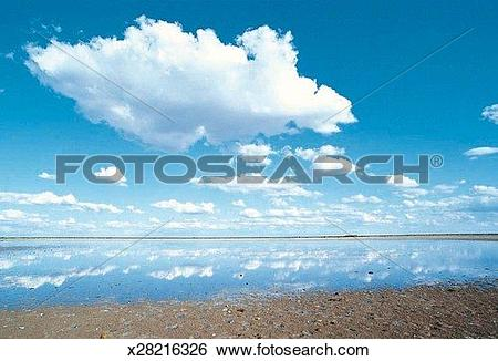 Stock Images of Salt Pan, Botswana, Africa x28216326.