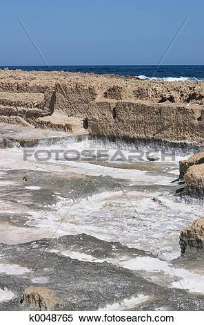 Stock Image of Salt pans on crete k0048765.