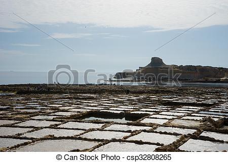 Stock Image of Salt Pans.