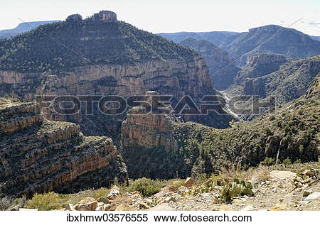 """Stock Image of """"Salt River Canyon from Highway 60, Carrizo."""