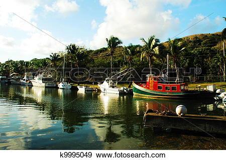 Stock Photograph of Salt River Marina US Virgin Islands k9995049.