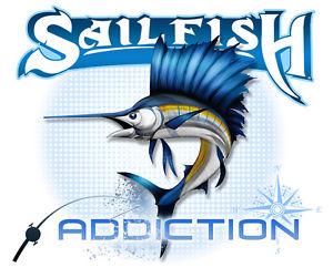 Salt Addiction Fishing t shirt,Sailfish,Saltwater shirt,Ocean,Fish.
