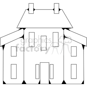 Salt Box House 03 clipart. Royalty.