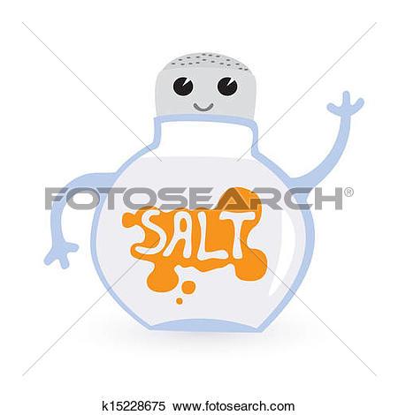 Clipart of funny salt.