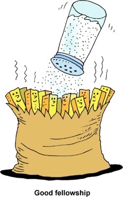 Image: Salting French Fries.