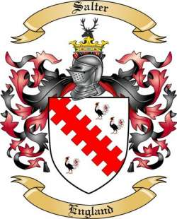 Salter Family Crest from England by The Tree Maker.