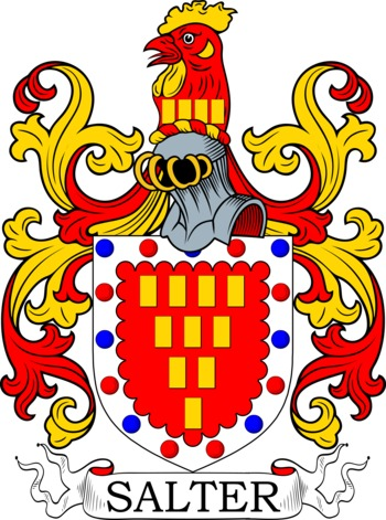 Salter Coat of Arms Meanings and Family Crest Artwork.