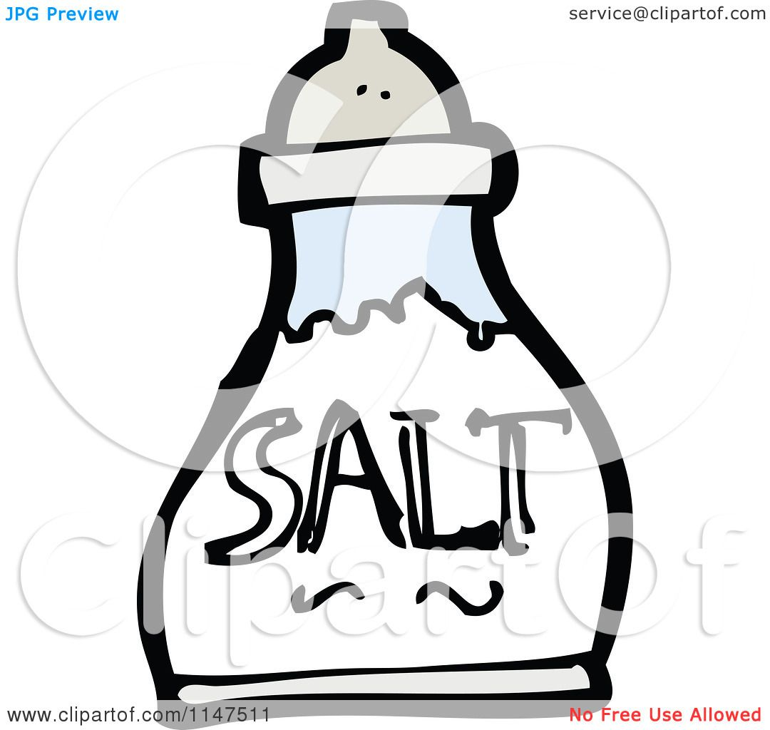 Cartoon of a Salt Shaker.