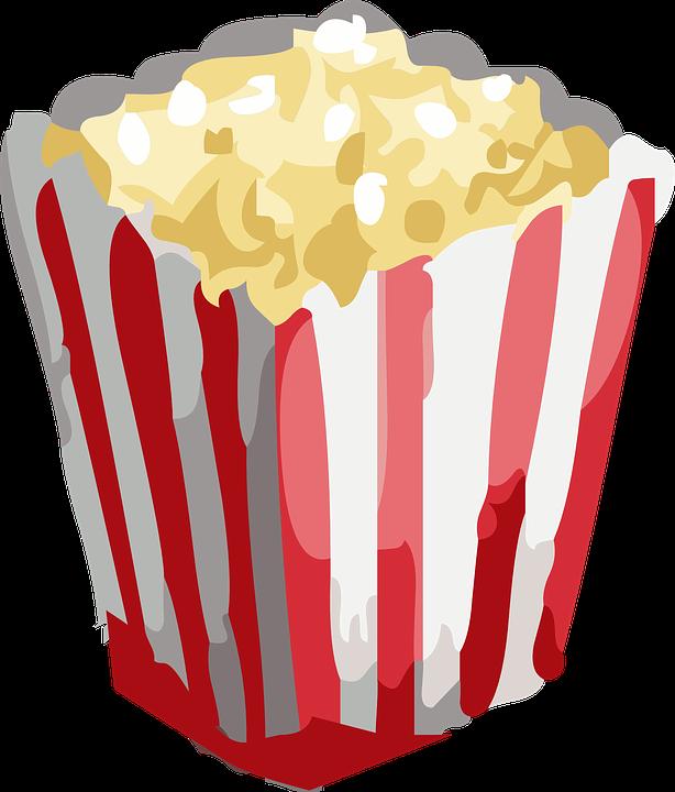 Free vector graphic: Popcorn, Snack, Movie, Food, Cinema.