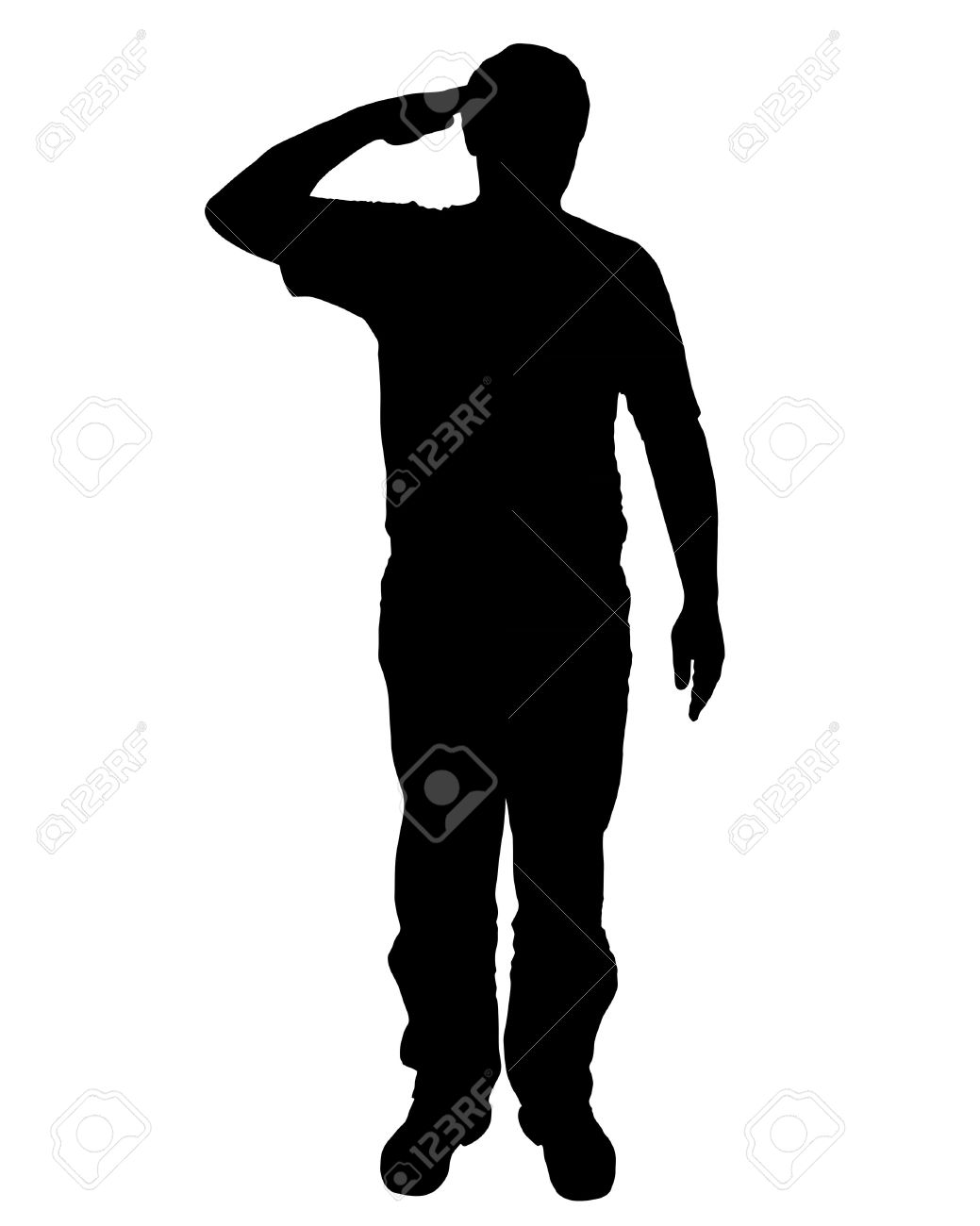 Military Salute Clipart.