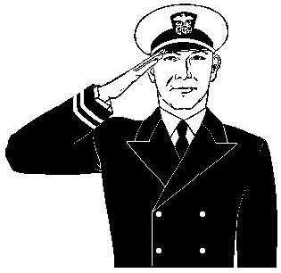 Salute clipart.