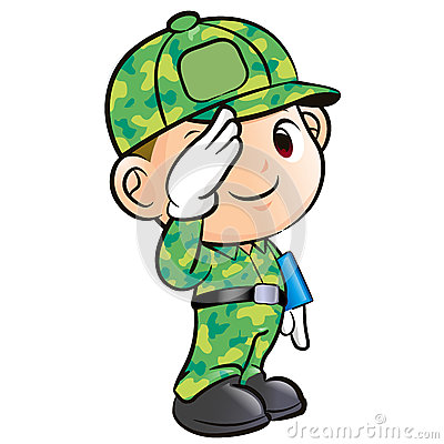 Salute To The Soldier Character Stock Images.