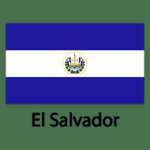 El salvador national flag.