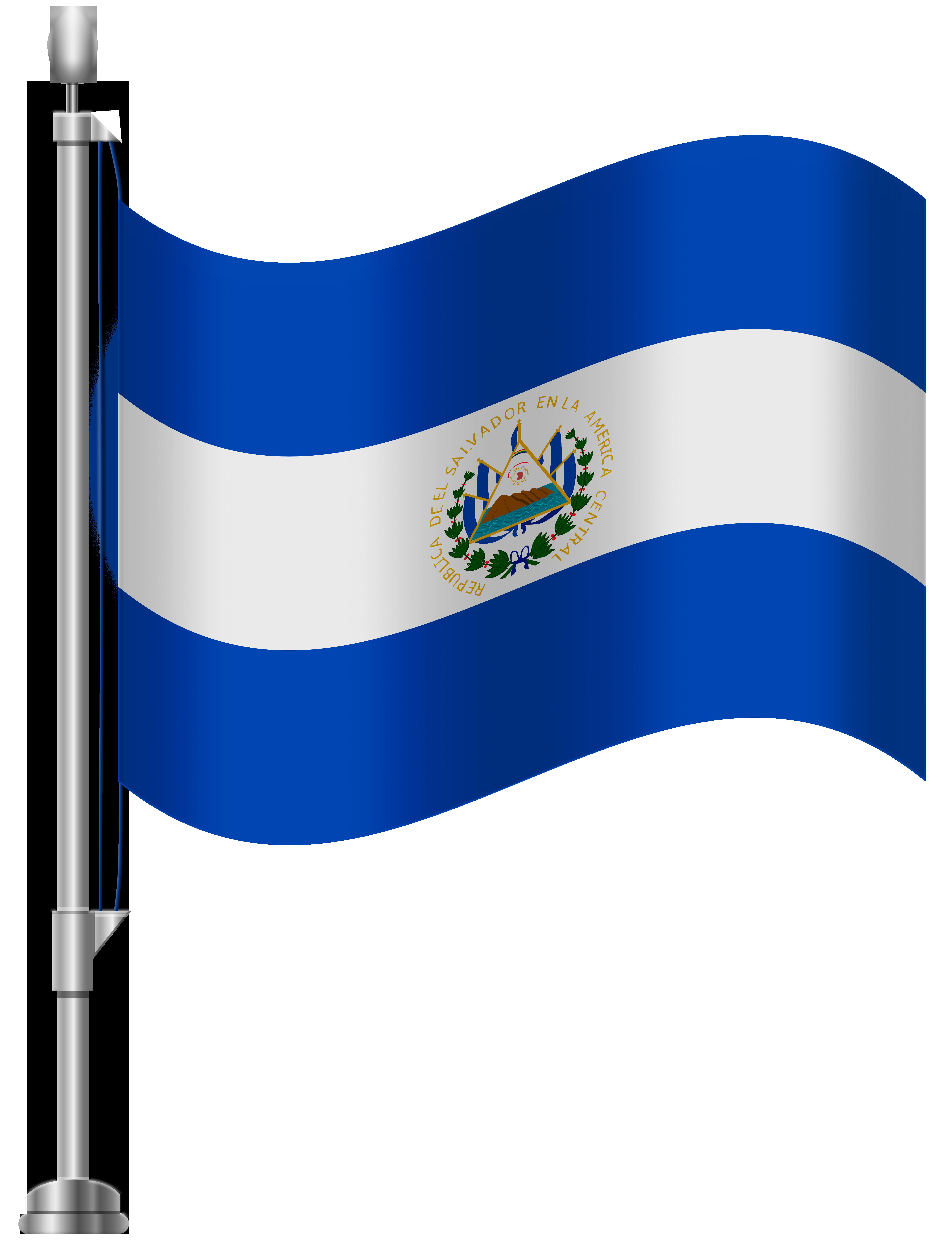 El Salvador Flag PNG Clip Art.