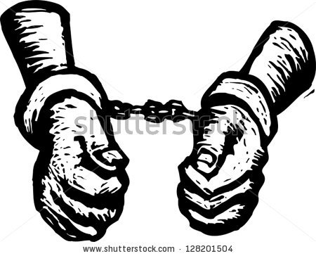 Slavery chains clipart.