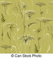 Vector Clipart of Meadow Sage or Salvia pratensis vintage.