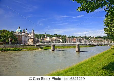 Stock Fotografien von Salzburg, salzach, Fluß, veiw.