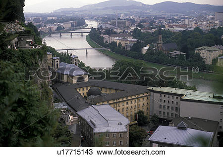 Stock Photo of Salzburg, Austria, Europe, Scenic view of the.