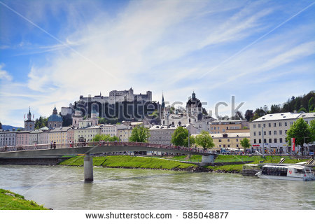 River Salzach Stock Photos, Royalty.