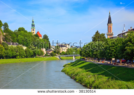 River Salzach In Salzburg, Austria Stock Photo 38130514 : Shutterstock.