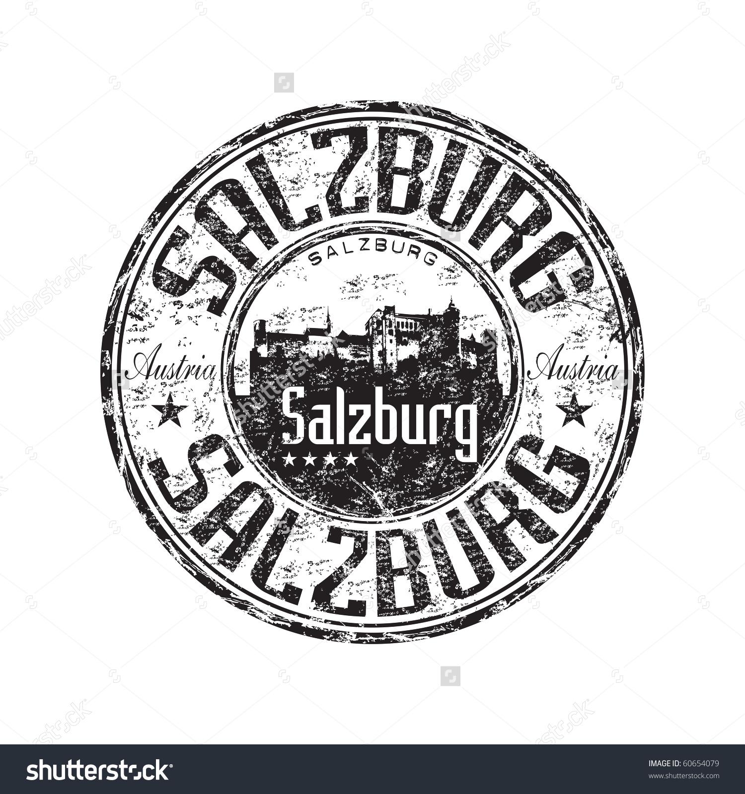 Black Grunge Rubber Stamp Castle Silhouette Stock Vector 60654079.