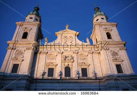 Cathedral Of Saint Rupert In Salzburg, Austria. Baroque Religious.