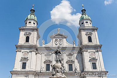 Salzburg Cathedral, Austria Stock Photos.