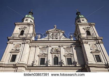 "Stock Photography of ""Salzburg Cathedral, Salzburg, Land Salzburg."