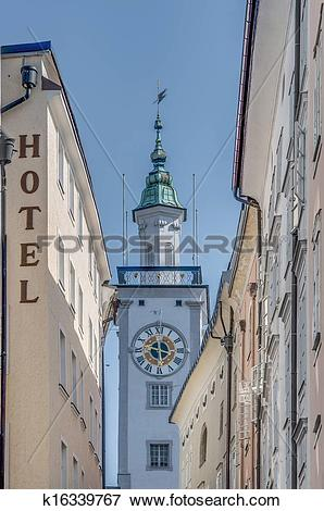 Picture of Old City Hall (Altes Rathaus) at Salzburg, Austria.