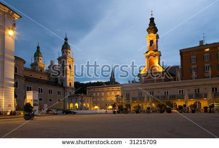 Salzburg City Center Sunset Stock Photo 31215709.