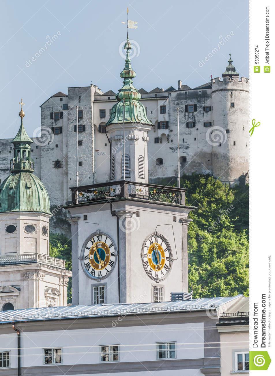 Old City Hall (Altes Rathaus) At Salzburg, Austria Stock Photo.