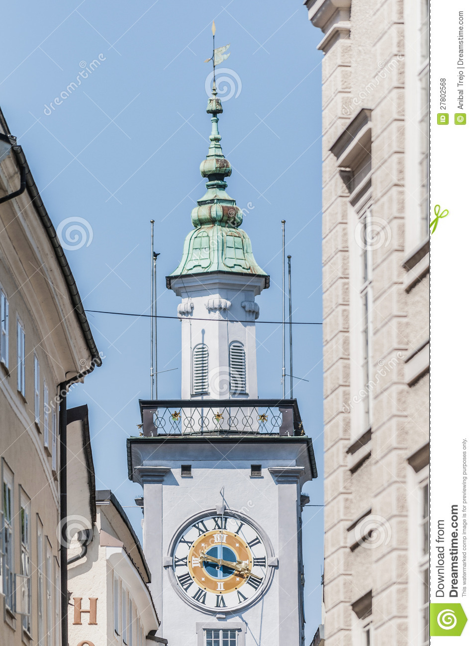 Old City Hall (Altes Rathaus) At Salzburg, Austria Royalty Free.